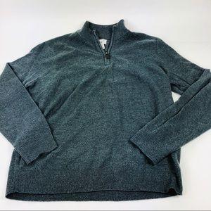 Dockers Mens Pull Over Sweater Gray 1/4 Zip M new